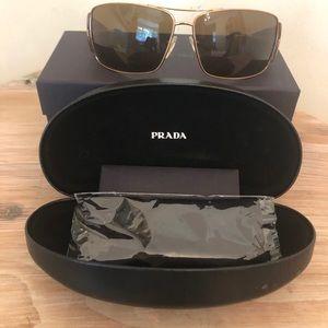 Prada NWT sunglasses Tortoise metal frame